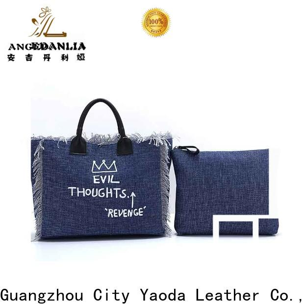 ANGEDANLIA tote canvas tote bag pattern Chinese for shopping