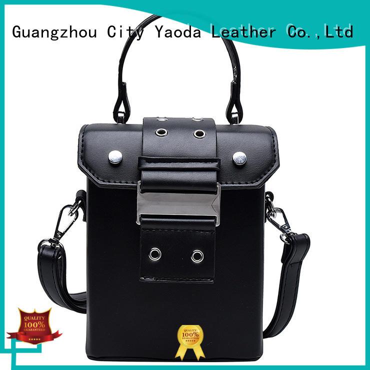 ANGEDANLIA trend black leather handbag online for school