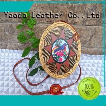 ANGEDANLIA customized wicker rattan purse handbag online for women