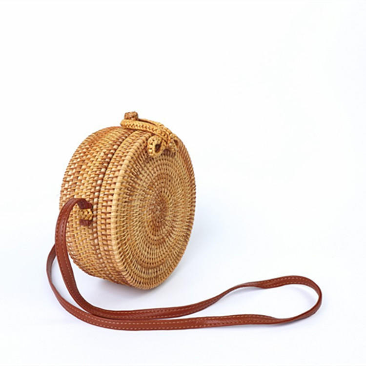 ANGEDANLIA fashion straw tote leather handles online for summer-1