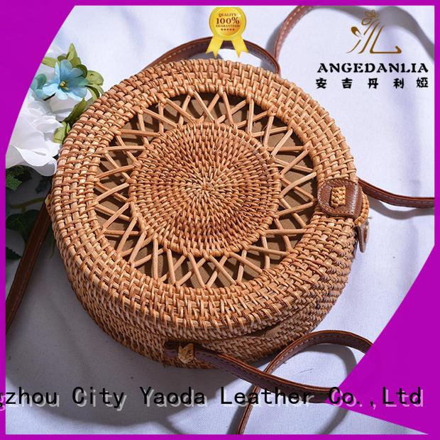 ANGEDANLIA fresh woven beach bag online for girls