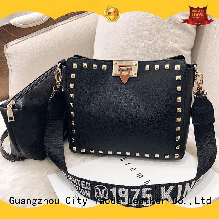 ANGEDANLIA elegant leather bucket bag on sale for work