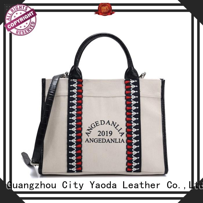 unique plain canvas tote bags with zipper for lady