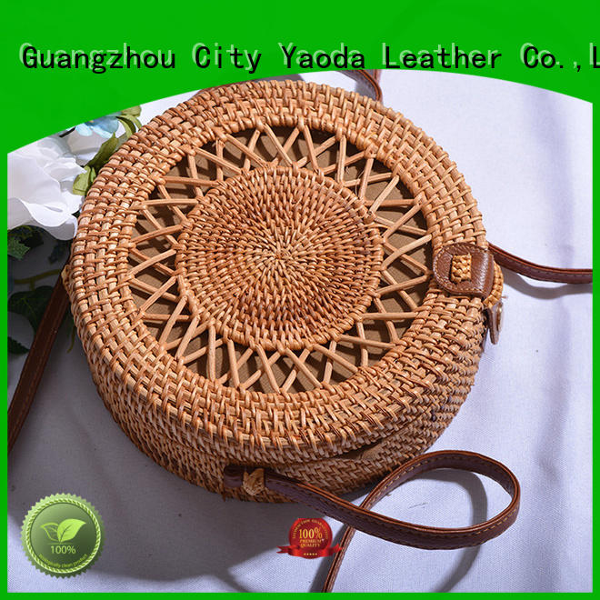 ANGEDANLIA handmade wicker purse manufacturer for beach