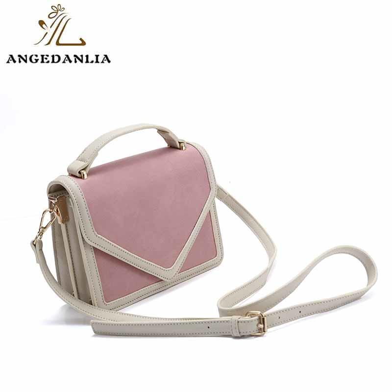 ANGEDANLIA vintage pu clutch bag woolen for travel-1