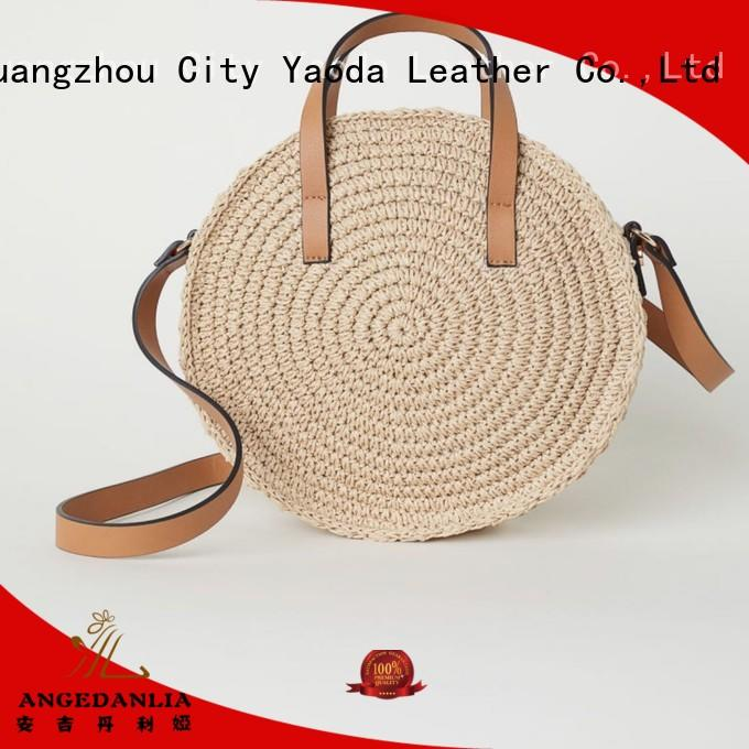 ANGEDANLIA natural rattan bag round on sale for ladies