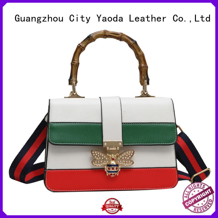 ANGEDANLIA bee vintage leather bags on sale for women