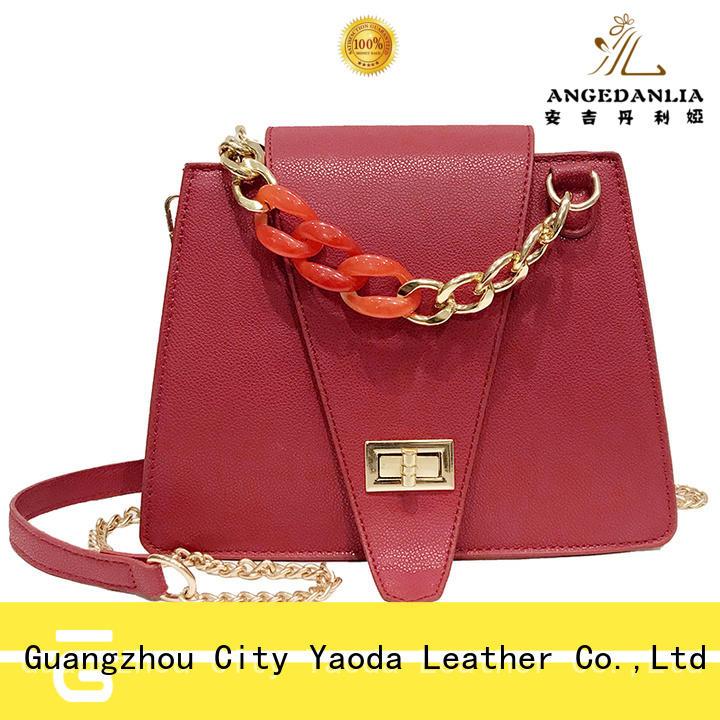 logo pu handbags online for daily life ANGEDANLIA