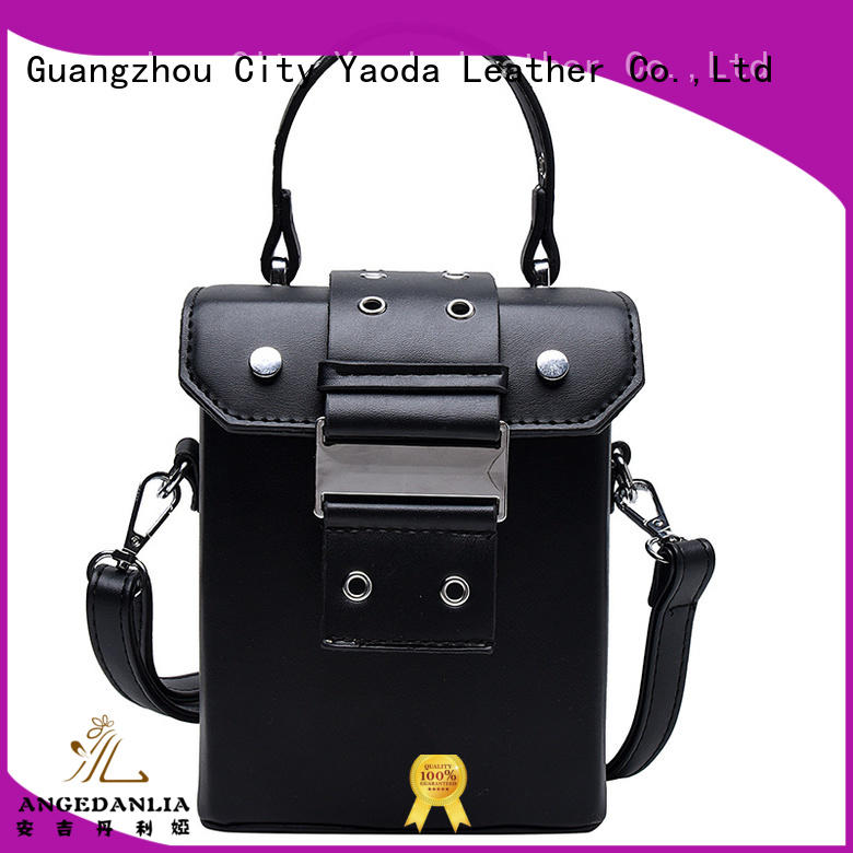 ANGEDANLIA personality purple leather handbags online for women