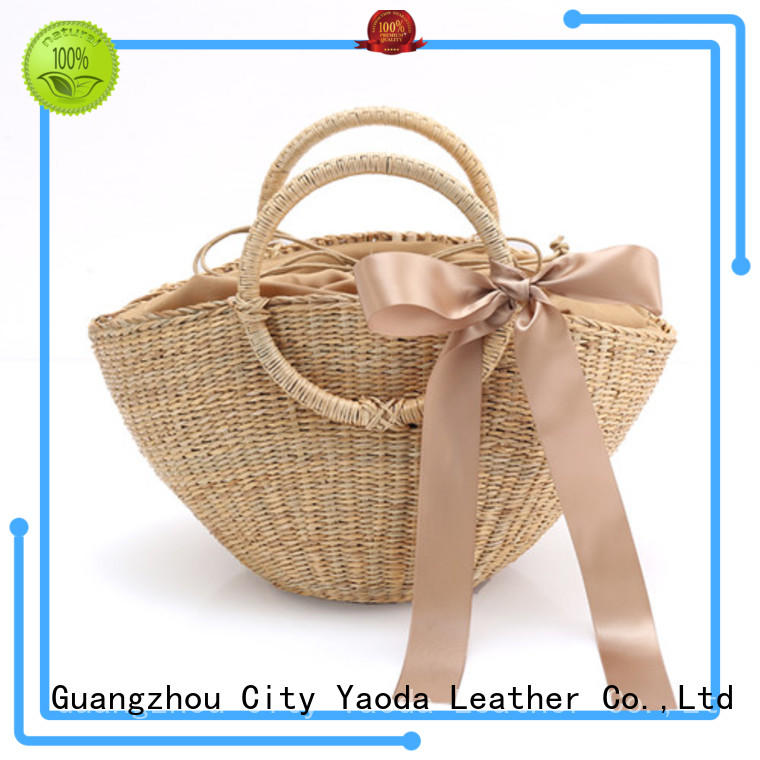 ANGEDANLIA handmade wholesale straw tote bags for sale for ladies
