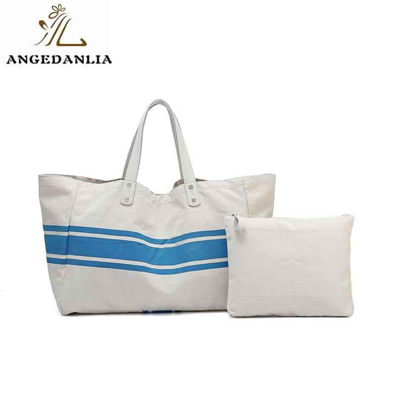 ANGEDANLIA casual canvas tote bags with zipper online for lady-1