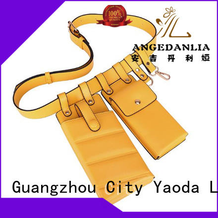 ANGEDANLIA sides leather overnight bag supplier for school