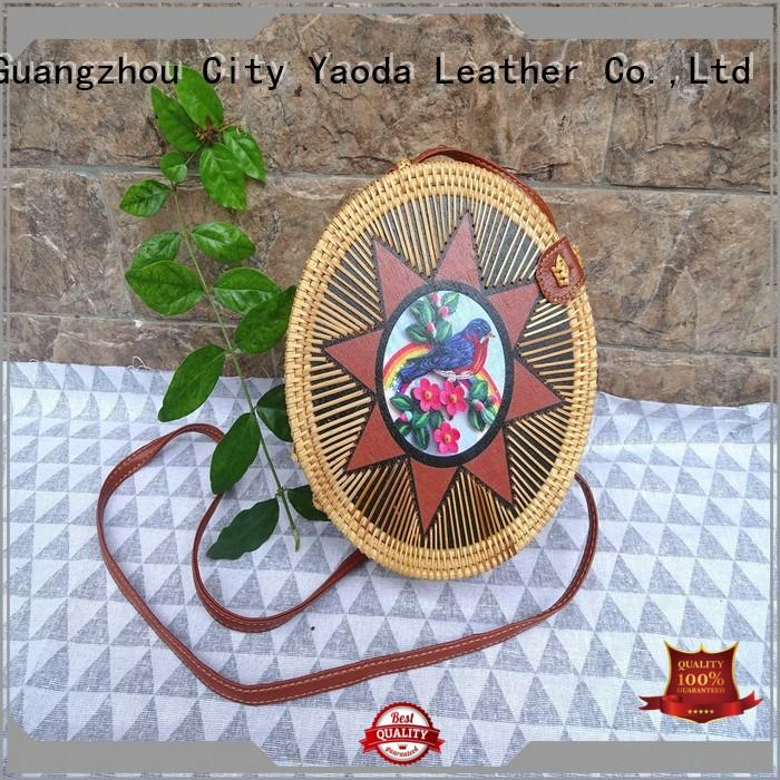 ANGEDANLIA brass straw beach bag manufacturer for ladies