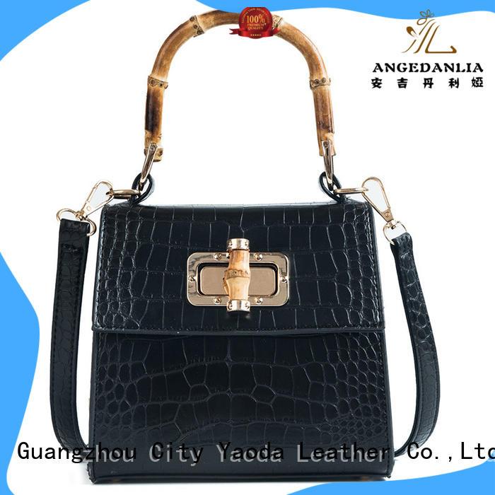 fashion brown leather bag womens handbag manufacturer for travel