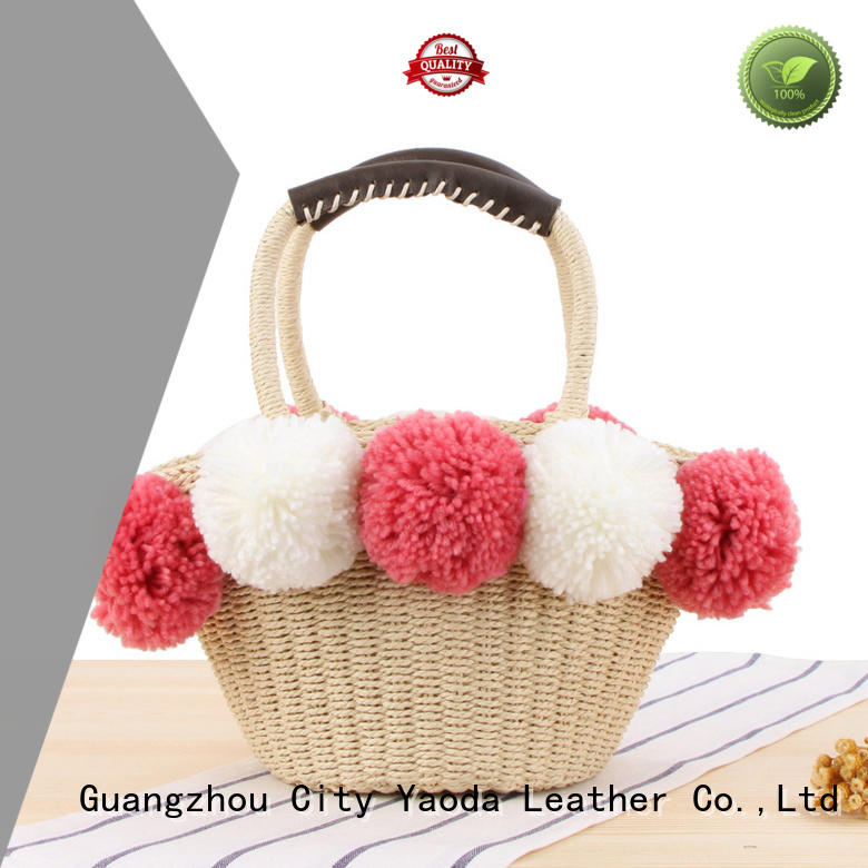 ANGEDANLIA customized wholesale straw tote bags online for girls