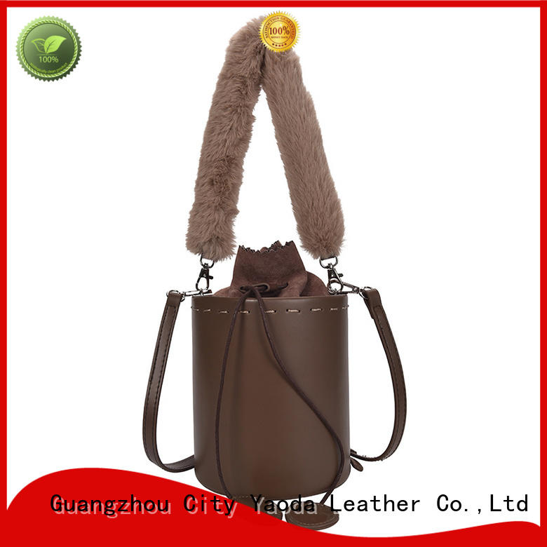 ANGEDANLIA bag brown leather purse on sale for school