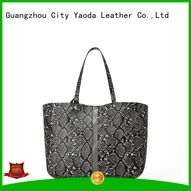 Angedanlia 2019 spring new style large capacity snakeskin grain pu shopping tote bag fashion bag