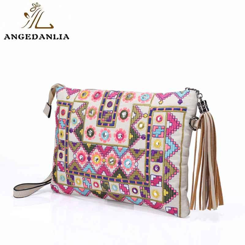 ANGEDANLIA handcraft boho leather bag Large capacity for travel-1