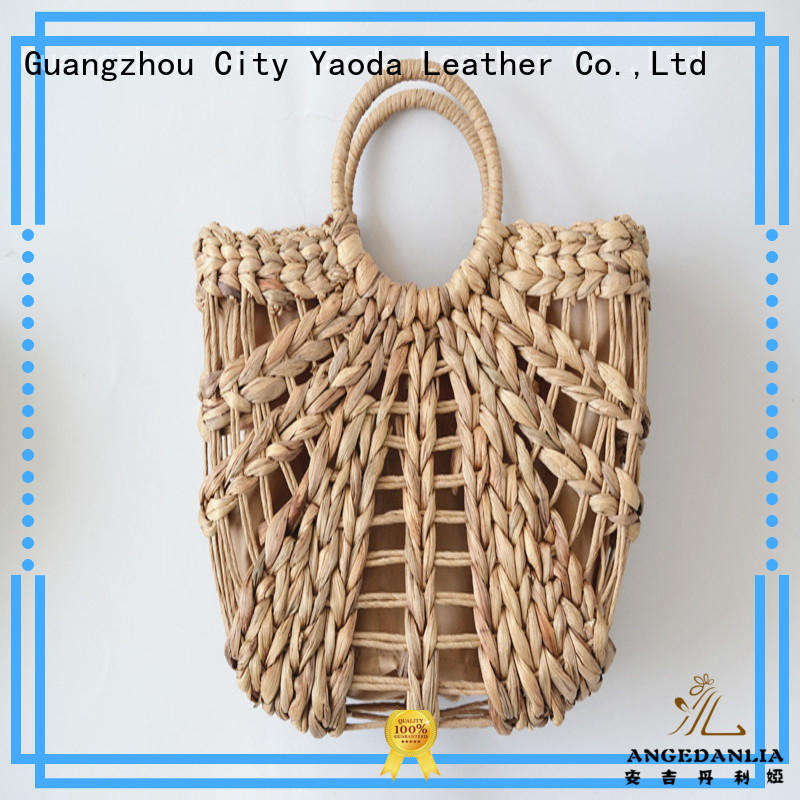 handmade woven straw tote rattan on sale for ladies