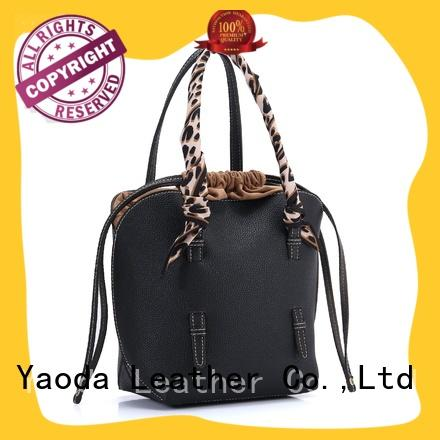 ANGEDANLIA box woven leather bag manufacturer for school