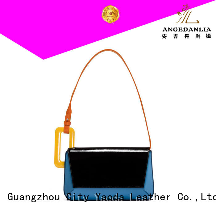 simple genuine leather handbags flannel manufacturer for school