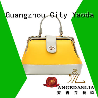 ANGEDANLIA flannel genuine leather handbags for sale for school
