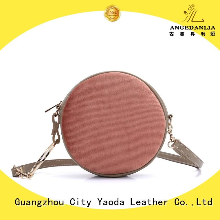 ANGEDANLIA simple purple leather handbags online for date