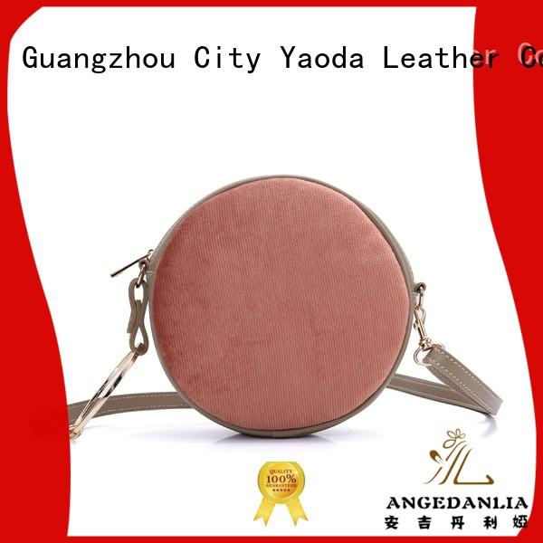 round pu shoulder bag manufacturer for school ANGEDANLIA