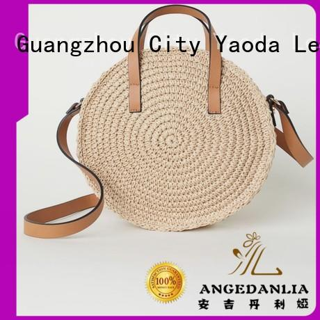 ANGEDANLIA brass straw beach bags on sale for girls
