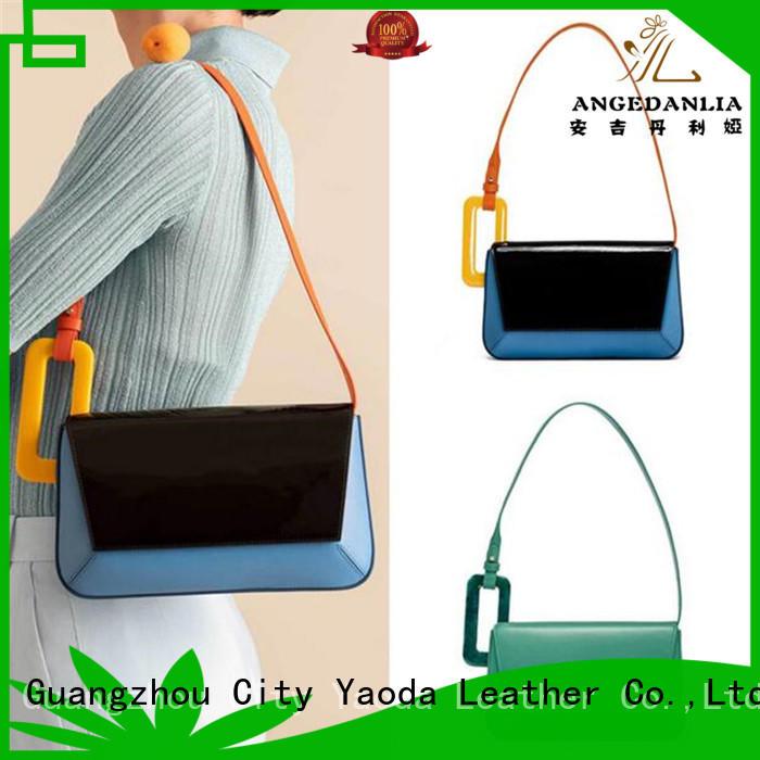elegant genuine leather handbags apricot online for work