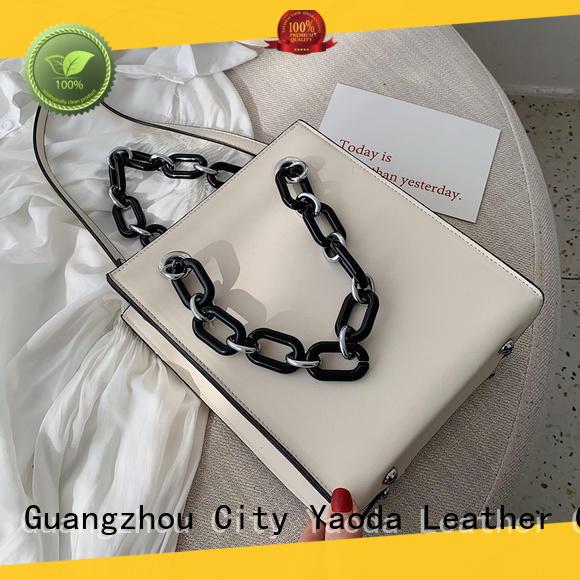 fashion pu shoulder bag apricot manufacturer for women