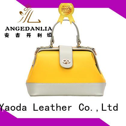 RKY1048 women hard pu leather handbag brand design handbag custom-made leather bag handbags