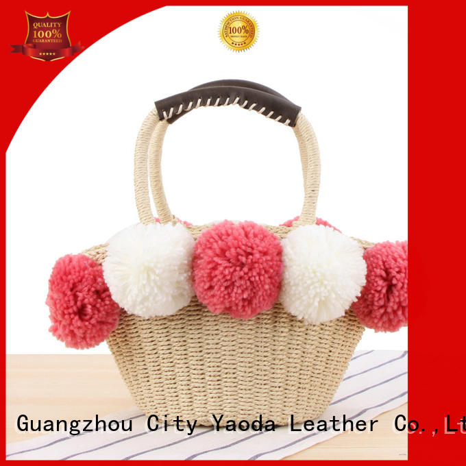 ANGEDANLIA customized straw bucket bag for sale for women
