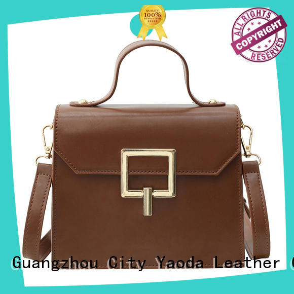 simple brown leather pocketbooks round manufacturer for daily life