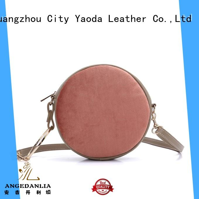 ANGEDANLIA vintage purple leather handbags on sale for date