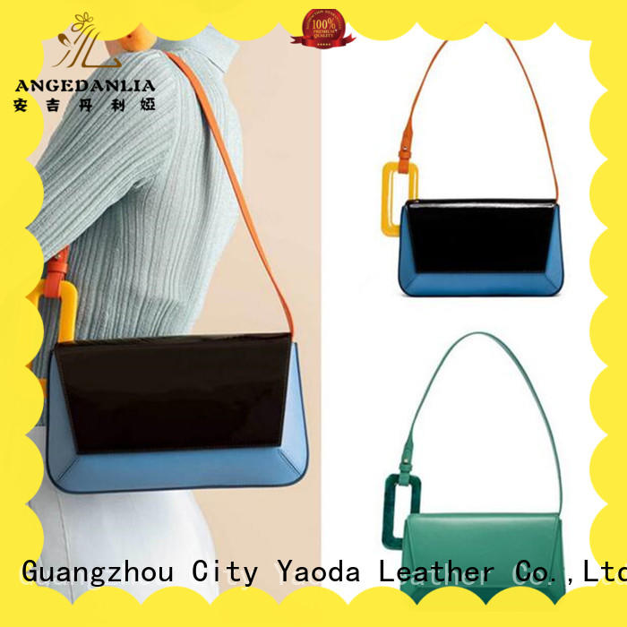 fashion women's soft leather handbags bamboo manufacturer for women