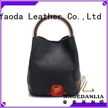 ANGEDANLIA simple pu material bag manufacturer for school