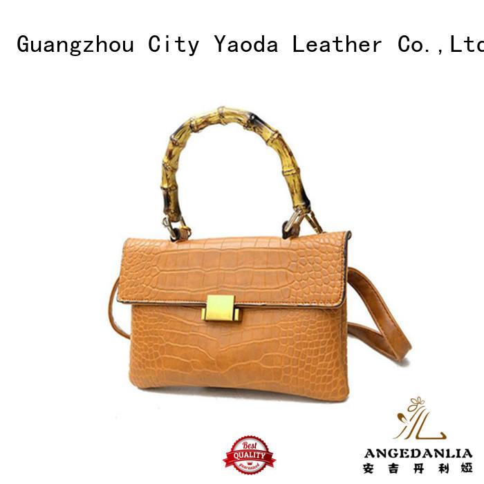 RKY0685 fashion PU handbag with bamboo handle