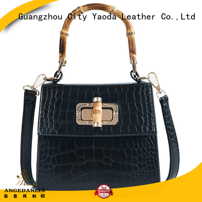 tote purple leather handbags manufacturer for travel ANGEDANLIA
