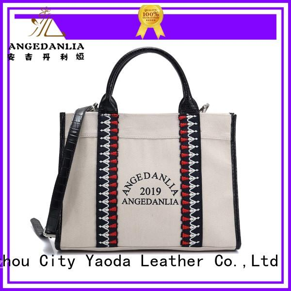ANGEDANLIA designer canvas handbags Chinese for travel