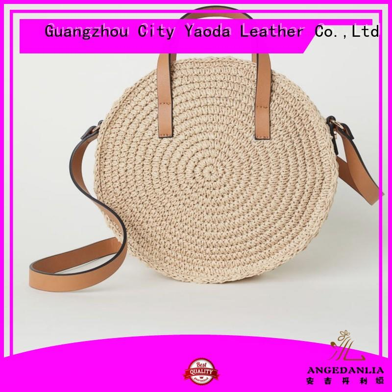 RKY1050 Angedanlia fashion hot sell wholesale handmade new circle girls handbag straw beach bag mexico