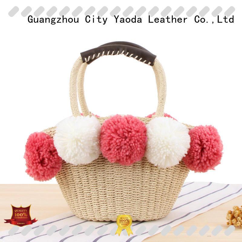 ANGEDANLIA beautiful straw bag shell for women