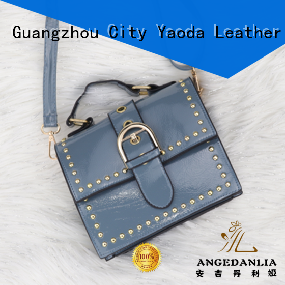 ANGEDANLIA shopping leather bag brands online for daily life
