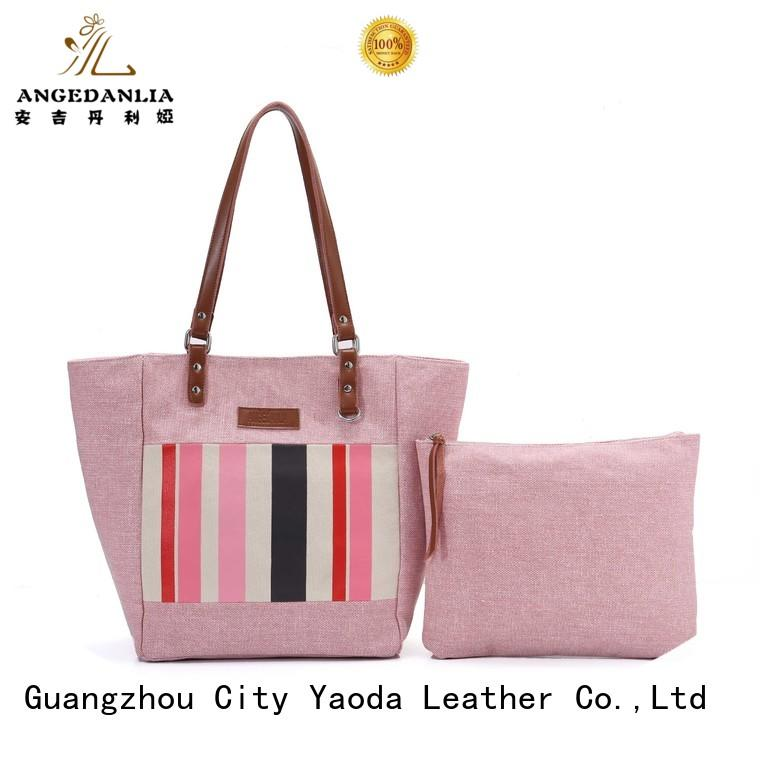 ANGEDANLIA customized canvas and leather bag on sale for travel