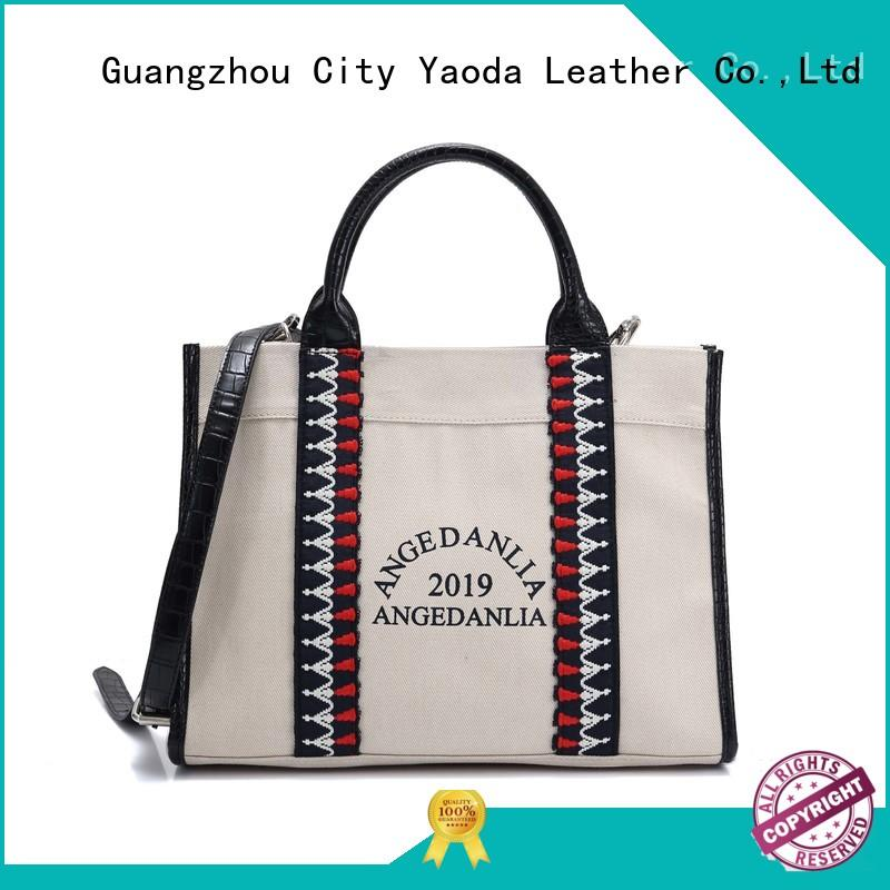 ANGEDANLIA leisure black canvas tote bag on sale for shopping