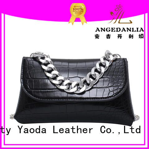 ANGEDANLIA flannel large leather bag for sale for travel