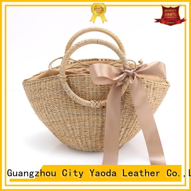 ANGEDANLIA brass wicker shopping bag for sale for women