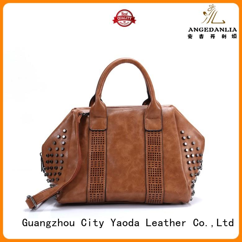 ANGEDANLIA simple pu leather handbags on sale for school
