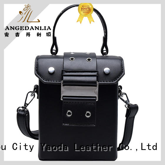 ANGEDANLIA on black patent leather handbags online for travel