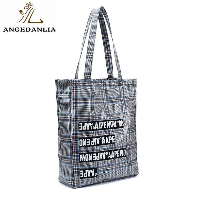 ANGEDANLIA customized canvas and leather tote bag on sale for daily life-1